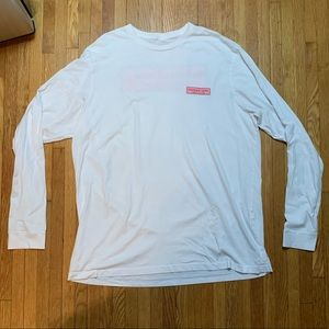Mens White XL Vineyard Vines Long Sleeve Tee
